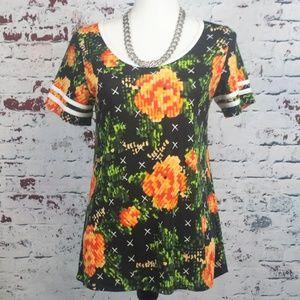LULAROE Perfect T Floral Tunic Shirt - Women's XS